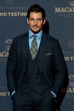 """David Gandy attends @The_Macallan and @Thom_Sweeney events and named best dressed of the week by British GQ """"To be noticed without striving to be noticed, this is what elegance is about"""" - Luciano..."""