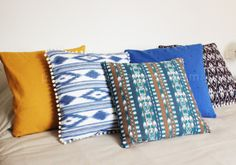 Love these pompoms and color scheme. Plan B anna · evers DIY pom pom pillow