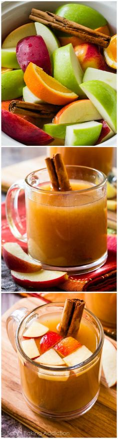 Slow cooker apple cider is a MUST MAKE for fall. I've been making this every single weekend. You control the sugar and spice! Slow cooker apple cider is a MUST MAKE for fall. I've been making this every single weekend. You control the sugar and spice! Healthy Recipes, Apple Recipes, Fall Recipes, Holiday Recipes, Cooking Recipes, Apple Desserts, Yummy Drinks, Healthy Drinks, Yummy Food