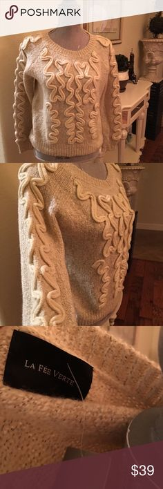 New - anthropologie sweater Super cute and light weight pull over sweater.  Size m Anthropologie Sweaters