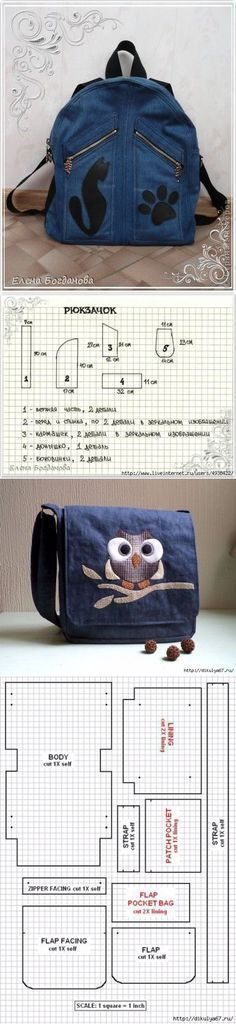 Переделки: Джинсовые сумки — Рукоделие  ...<3 Deniz <3