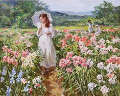 Stanislav Fomenok - Spaziergang im Blumengarten