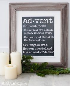 Advent Definition Printable - The Lilypad Cottage