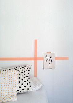 Paper Trail: DIY washi tape wall art - Bedhead decoration - on carriecanblog.com