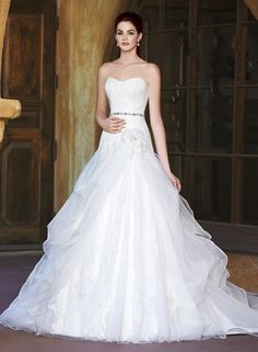Find More Wedding Dresses Information about 2016 New Sexy Sweetheart Lace A Line Wedding Dresses With Appliques Crystal Flowers Plus Size Bridal Gowns Robe De Mariage W292,High Quality dress chat,China dresses knitting Suppliers, Cheap dress thai from Juliana Wedding Dresses Store on Aliexpress.com