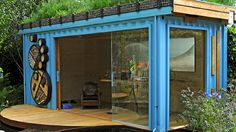 made from a refurbished shipping container, genius!