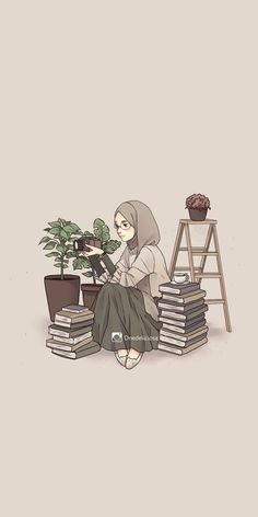 Islamic anime and hijab - # islamic # hijab particular scarf is an essential bit inside clothes Cute Cartoon Wallpapers, Cute Wallpaper Backgrounds, Cartoon Kunst, Cartoon Art, Cover Wattpad, Hijab Drawing, Islamic Cartoon, Anime Muslim, Hijab Cartoon