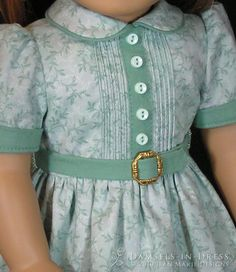 inspired designs suitable for Molly & Emily Click photos to enlarge Girls Frock Design, Baby Dress Design, Baby Girl Dress Patterns, American Girl Dress, American Doll Clothes, Sewing Doll Clothes, Girl Doll Clothes, Girl Dolls, Kids Dress Wear