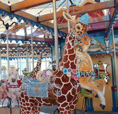 Giraffe at the Carousel in Cincinnati