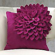 purple offset flower pillow
