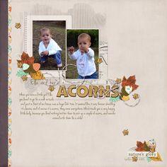 acorns - using Wishing Well Creations by Laura Passage - Autumn Splendor - @pixelsandco.com