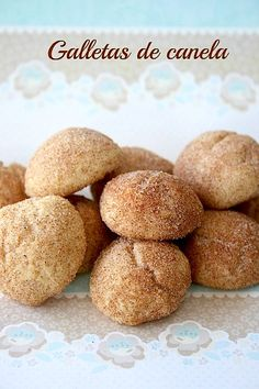 Galletas de Canela Mexican Sweet Breads, Mexican Bread, Mexican Food Recipes, Sweet Recipes, Cookie Recipes, Dessert Recipes, Biscuits, Mexican Cookies, Delicious Desserts