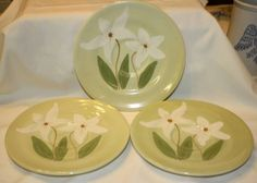Three Hand Painted Angeles Saucers by vicandjulie on Etsy, $9.00