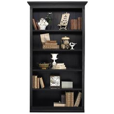 Ballard Designs Tuscan Large Center Bookcase ($899) ❤ liked on Polyvore featuring home, furniture, storage & shelves, bookcases, shelves, book case, bookcase, shelf furniture, book shelves and shelving furniture