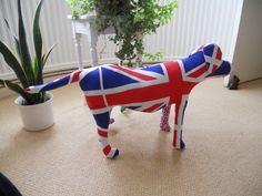 Team GB Olympic Union jack print fabric dog Mannequin.