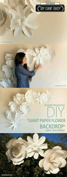 Large Paper Flower Wall Decor for Nursery von BarbAnnDesigns ...