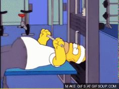 Homer at the gym. - The Simpsons