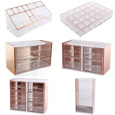 Rose Gold Cosmetic Make Up Organizer Drawer Display Tray Storage Table Decor Rose Gold Room Decor, Rose Gold Rooms, Gray Decor, Bedroom Ideas Rose Gold, Rose Gold Bedroom Accessories, Gold Bedroom Decor, Locker Accessories, Make Up Organizer, Make Up Storage
