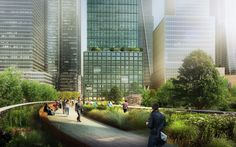 An Office Building with a Park for a Backyard