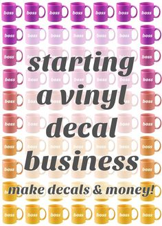 How to choose a decal business strategy. A business model is the foundation for … How to choose a decal business strategy. A business model is the foundation for your Cricut or Silhouette business success. Learn the keys at the… Continue Reading → Cricut Air, Cricut Vinyl, Vinyl Decals, Cricut Fonts, Cricut Craft, Wall Stickers, Wall Decals, Wall Art, Vinyl Crafts