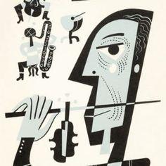 Coda   Jim Flora Jazz Poster, Columbia Records, Music Artwork, Art Director, Booklet, Flora, Illustration, Modern, Artist