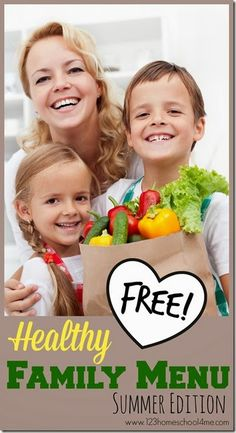 Check out this free Healthy Summer Menu Plan + free printable shopping lists.