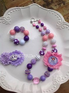 Princess Sofia  Inspired Girl Necklace- Sofia The First Inspired Necklace