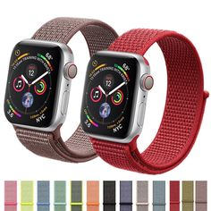 CRESTED Sport Loop strap For Apple Watch band 4 3 iwatch band correa Nylon wrist bracelet watch Accessories. CRESTED Sport Loop strap For Apple Watch band 4 iwatch 3 band correa Nylon wrist bracelet watch Accessories. Apple Watch Iphone, Apple Watch Bands 42mm, Apple Watch Bracelets, Bracelet Watch, Nylons, Sport Armband, Watch Belt, Apple Watch Accessories, Apple Watch Series 3