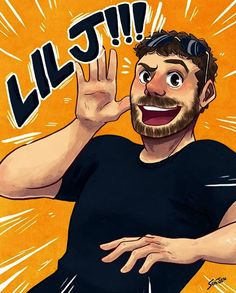 Here's the drawing I sent to Jeremy! Thanks so much to for delivering it for me! :D (also a speedpaint again haha) Jeremy Dooley, Youtubers, Achievement Hunter, Red Vs Blue, Rooster Teeth, Cool Cartoons, Rwby, Tag Art, Supernatural