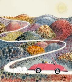 Landscape Artwork, Children's Book Illustration, Graphic, Illustrations Posters, Collage Art, Cute Art, Paz Mental, Polaroid Camera, Easy Paintings