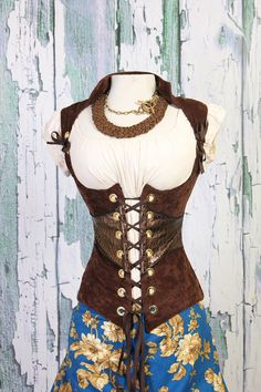 Waist 45 to 47 Chocolate Brown Steampunk by damselinthisdress, $139.00 @ Etsy