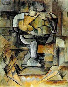 Pablo Picasso, 1910 Le compotier on ArtStack #pablo-picasso #art