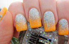 Diseños de uñas decoradas, diseño de uñas pintadas glitter. Clic Follow, Unete al CLUB #manicuras #unhas #uñasconbrillos