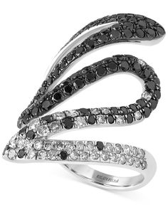 Caviar By Effy Black and White Diamond Ring (2 ct. t.w.) in 14k White Gold