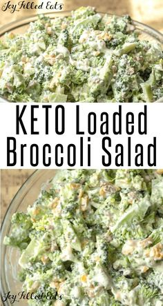 Skinny Broccoli Salad, Broccoli Salad Bacon, Broccoli Recipes, Broccoli Cauliflower, Healthy Low Carb Recipes, Ketogenic Recipes, Diet Recipes, Cream Recipes, Pork Recipes
