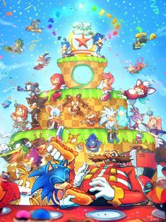 Sonic and Eggman getting along is pretty cool in this picture Shadow The Hedgehog, Sonic The Hedgehog, Silver The Hedgehog, The Sonic, Hedgehog Art, Sonic Satam, Sonic 25th Anniversary, Happy Anniversary, Transformers