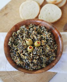 I love olives! Or, maybe I should clarify.I love black olives! I've never been a fan of green olives, I usually avoid them.but in this dip, I love them! My aunt has been making this dip for a . Olive Recipes, New Recipes, Favorite Recipes, Paleo Recipes, Appetizer Dips, Appetizer Recipes, Party Appetizers, Green Olive Dip, Olive Paste