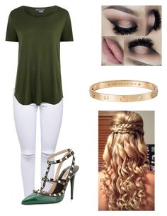 """""""❤️❤️"""" by victoriamajors ❤ liked on Polyvore featuring Lipsy, Valentino, Vince and Cartier"""