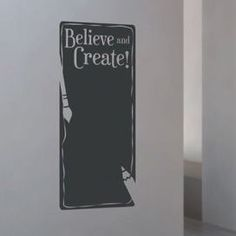 Believe & Create Chalkboard Wall Decal