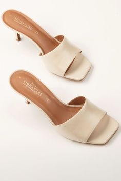 Buy Bone Signature Mules from the Next UK online shop Mules Shoes, Heeled Mules, High Heels Mules, Sandals, Clogs, Neutral, Slip On Mules, Women's Feet, Signature Collection