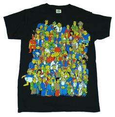 Simpsons Group Glow in the Dark Homer TV T-Shirt Tee Select Shirt Size: X-Large