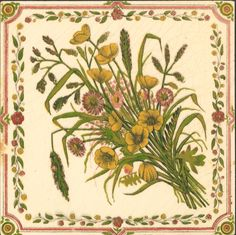 West Side Art Tiles - 4488n525p0 - English Tile