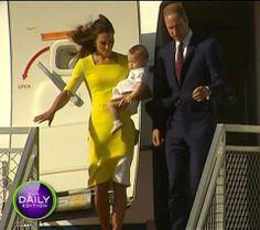 Royal Tour 2014: Prince William, Kate and George land in Sydney to kick off Australian leg of tour - New Idea Magazine - Yahoo!7 Lifestyle