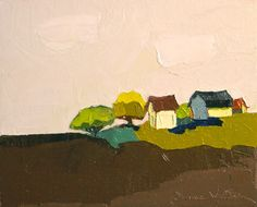 On a Clear Day-  Oil Painting- 8x10 Original- Farm Painting, Landscape Painting