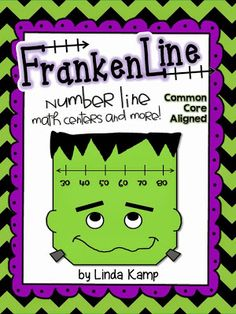 FrankenLine Number Line Math Centers (Grades 1-3) Students use a number line to practice adding and subtracting with unknowns, mental math and compensating strategies, determining the operation, elapsed time, and finding the number of units between numbers. Also includes counting coin sets and writing amounts in different ways, as well as ways to show a number work mats.  Perfect for stations, interventions or a standards-based party!$