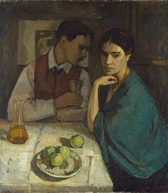 'Double Portrait (The Artist and His Wife),' 1908, by Swiss painter Paul Basilius Barth (1881-1955). via still life quick heart
