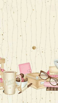 52 ideas wall paper iphone pastel girly for 2019 Screen Wallpaper, Wallpaper Backgrounds, Cellphone Wallpaper, Iphone Wallpaper, Cute Wallpapers, Aesthetic Wallpapers, Cute Art, Planner Stickers, Sketches
