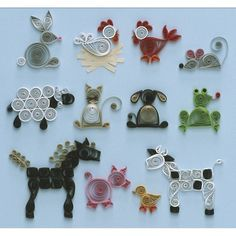 Quilling tiere