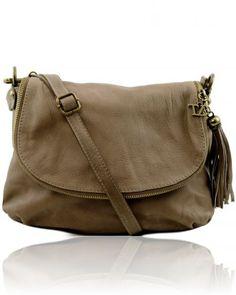 TL BAG TL141223 Soft leather shoulder bag with tassel detail
