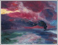 Emil Nolde (1867-1956), Abendliches Herbstmeer - 1951
